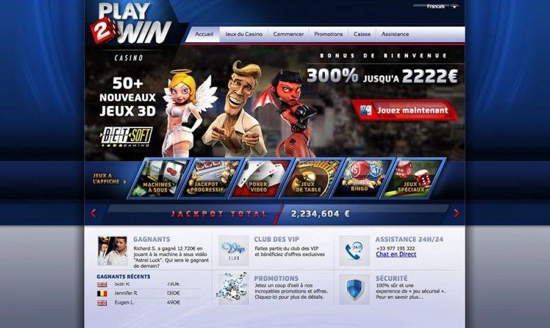 casino play2win account review