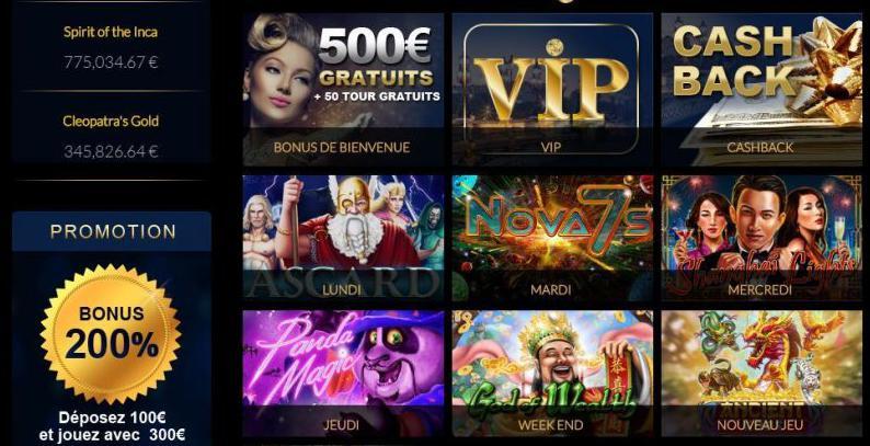 bonus and promotion Casino La Riviera