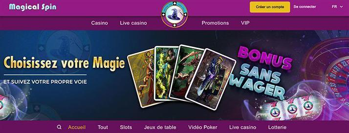 magical spin review casino account