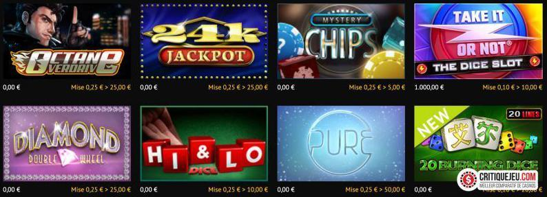 games offered on golden vegas
