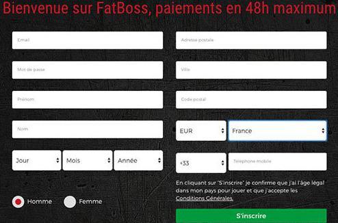 fatboss casino registration process