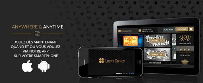 lucky games mobile application