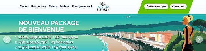 azur casino review account